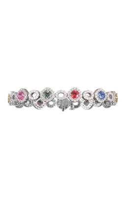 Multi Color Sapphire And Diamond Bracelet product image