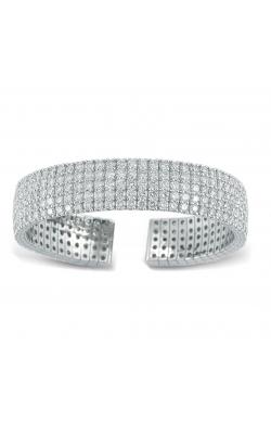 18K White Gold Diamond Cuff Bracelet product image