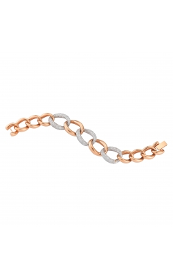 14K Rose Gold Diamond Link Bracelet product image