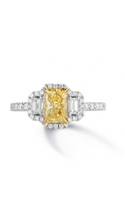 GIA Certified Radiant Cut Yellow Diamond Ring product image