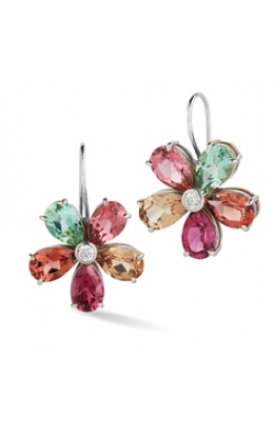 18k White Gold With Multi-colored Tourmaline Earrings product image