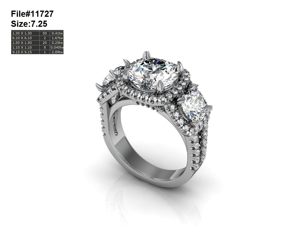 CAD Image of Engagement Ring