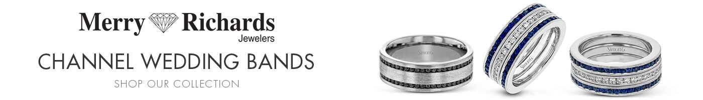 Channel Wedding Bands at Merry Richards Jewelers