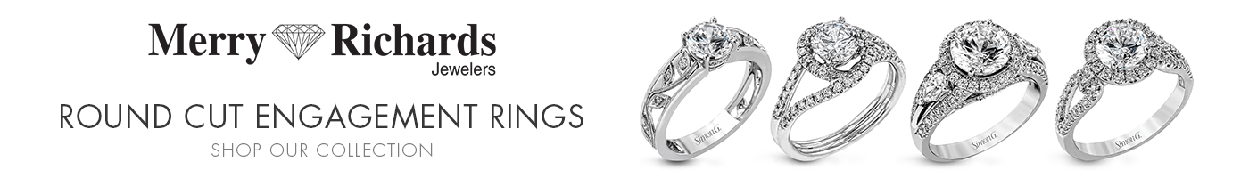 Round Cut Engagement Rings at Merry Richards Jewelers