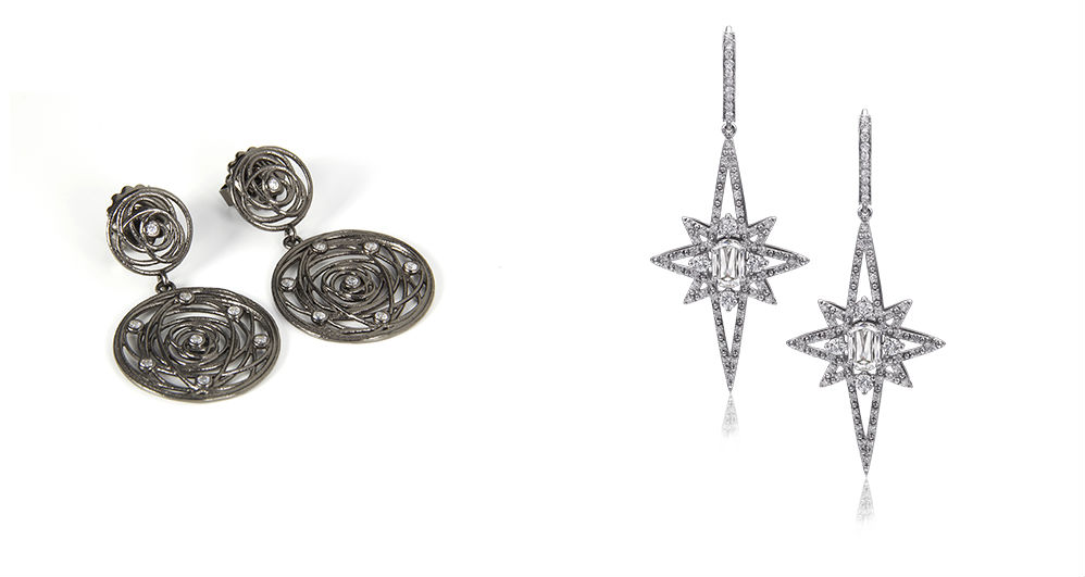 Henderson's Round Drop Earrings and Christopher Design's Star-Shaped Earrings