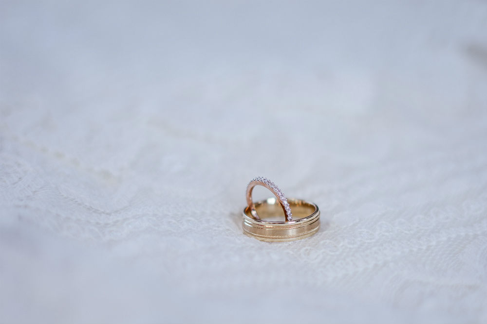 Pave Wedding Bands at Merry Richards