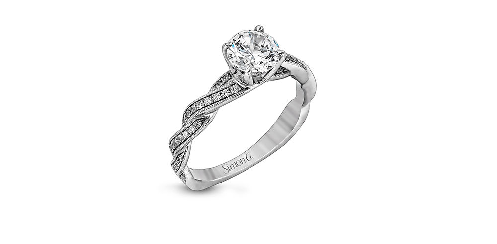 Simon G Classic Romance Engagement Ring